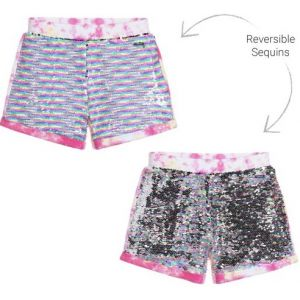 Guess Pink Reversible Sequin Shorts