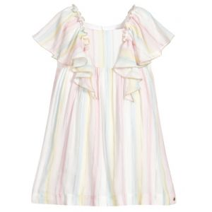 Lili Gaufrette Girls Pastel Rainbow Dress