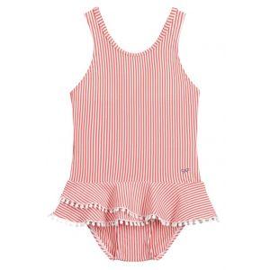 Lili Gaufrette Red & White Stripe Swimsuit