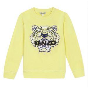 Kenzo Kids Girls Yellow Iconic Tiger Sweatshirt
