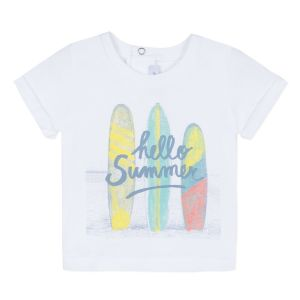 Absorba Baby Boy's White Surfboard Print T-Shirt