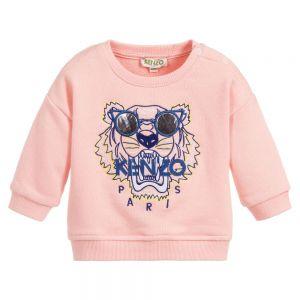 Kenzo Kids Baby Pink Girls TIGER Sunglasses Sweatshirt