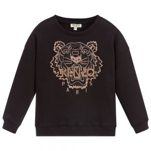 KENZO KIDS Girls Cotton Bronze Tiger Sweatshirt