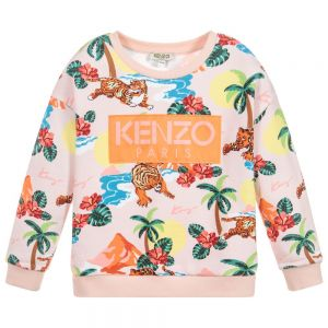 Kenzo Kids Girls Pink HAWAI Sweatshirt