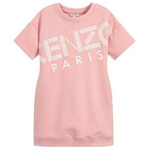 KENZO KIDS Girls Pink Logo Sweatshirt Dress