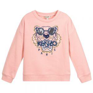 Kenzo Kids Girls Pink TIGER Sunglasses Sweatshirt