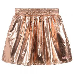 KENZO KIDS Girls Shiny Copper Skirt