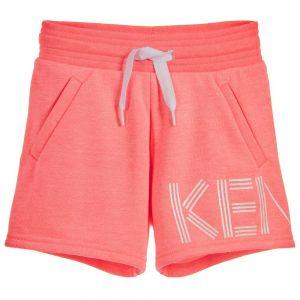 Kenzo Kids Girl's Neon Pink Shorts