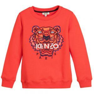 Kenzo Boy's Red Iconic Sweatshirt