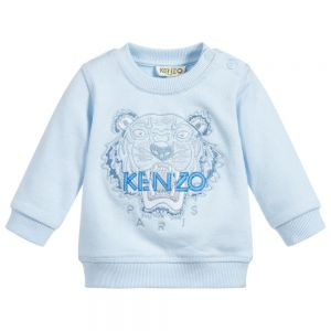 Kenzo Kids Unisex Cotton Pale Blue TIGER Sweatshirt