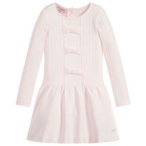 LILI GAUFRETTE Girls Pink Jersey Dress