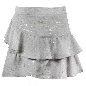 LILI GAUFRETTE Girls Grey Cotton Skirt