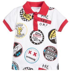Little Marc Jacobs Boy's White Polo Shirt