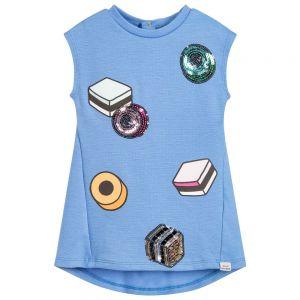 Little Marc Jacobs Girl's Blue Liquorice Sweetie Dress