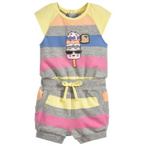 Little Marc Jacobs Girl's Candy Striped Playsuit