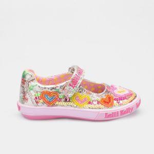 Lelli Kelly LK5060 Multi Fantasy Mila Heart Dolly Shoes