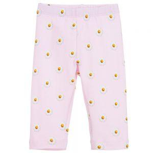 Monnalisa Bebé Baby Girls Pink Cotton Leggings