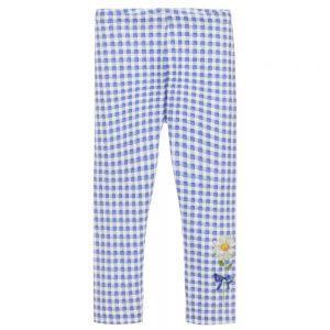 Monnalisa Blue Cotton Daisy Leggings