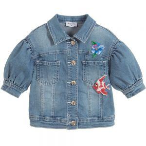 Monnalisa Girls Disney Little Mermaid Denim Jacket