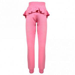 Monnalisa Pink Ruffle Cotton Joggers