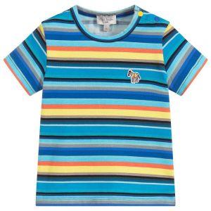 Paul Smith Junior Boys Stripe Cotton Tam T-Shirt