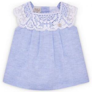 Paz Rodriguez Baby Girls Blue Lace Dress