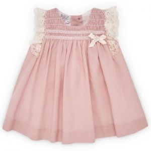 Paz Rodriguez Baby Girl Blush Pink and Cream Lace Dress