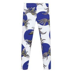 Kenzo Kids White & Blue Phoenix Leggings