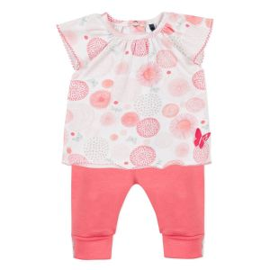 3Pommes Baby Girl's Coral 2 Piece Set