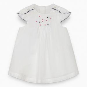 Tartine et Chocolat Girl's White Voile Dress