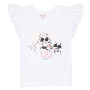 Lili Gaufrette Girls White Cotton Goodness T-Shirt