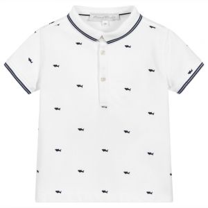 Tartine et Chocolat White Shark Polo Shirt