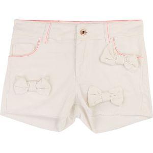 Billieblush Girls Ivory Cotton Shorts