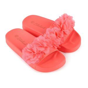 Billieblush Girls Bright Pink Flower Sliders