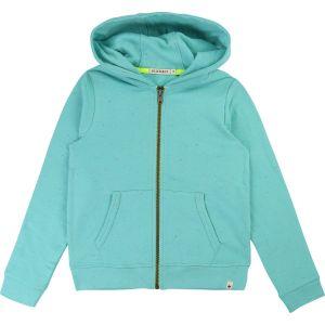 Billybandit Boys Turquoise Cotton Jersey Zip Up Top