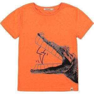 Billybandit Orange Cotton Crocodile T-Shirt