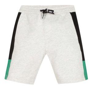 Kenzo Kids Grey Cotton Elephant Logo Shorts