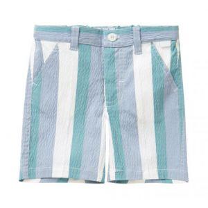 IL Gufo Boy's Seersucker Striped Shorts