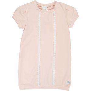Carrément Beau Girls Pink Jersey Lace Trimmed Dress