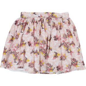 Carrément Beau Girls Pink Cotton Floral Skirt