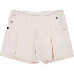 Carrément Beau Girls Pink Cotton Pleated Shorts