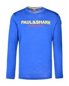 PAUL & SHARK Logo Blue Long Sleeved T-Shirt