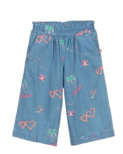 Billieblush Girls Blue Chambray Culottes