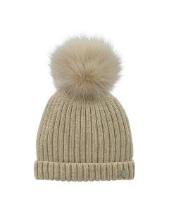 Martin Aranda Beige Bobble Hat