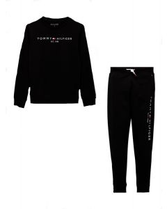 Tommy Hilfiger Black Organic Cotton Hooded Tracksuit
