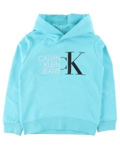 Calvin Klein Jeans Bright Blue Logo Hoodie Sweater