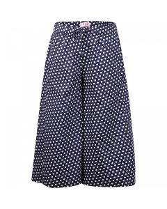Il Gufo Girls Navy and White Polka Dot Capri Pants