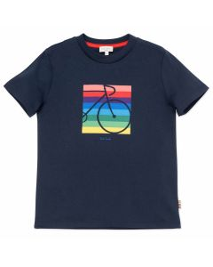 Paul Smith Junior Boys Navy Blue Cycle T-Shirt