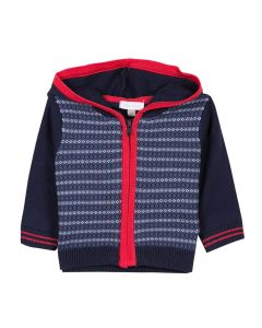 Absorba Boy's Navy and Red Cardigan