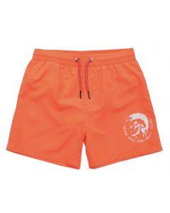 Diesel Bright Orange Logo Swim Shorts